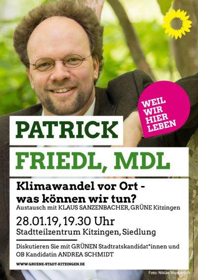 MdL Patrick Friedl zum Thema Klimawandel vor Ort - Was können wir tun?