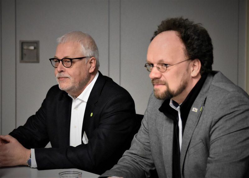 Klaus Sanzenbacher und MdL Patrick Friedl
