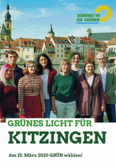 Stadtratsflyer GRÜNE Kitzingen Kommunalwahl 2020