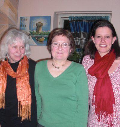 v.lks.: Elfie Hahn-Schwind, Christa Büttner, Angela Hufnagel