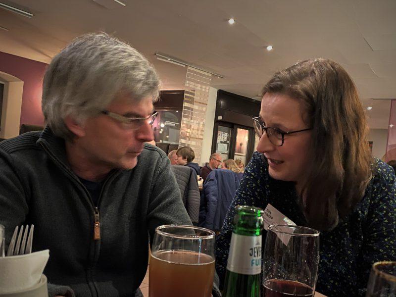 Volkhard Warmdt und Eva Trapp im Gespräch