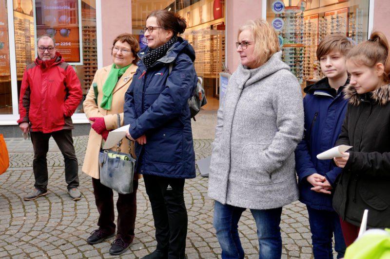 Teilnehmer der Fridays For Future Demo in Kitzingen, Februar 2020