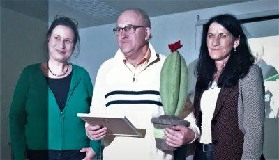 Preisverleihung GRÜNER Kaktus 2020: Eva Trapp, Erich Gahr, Andrea Schmidt