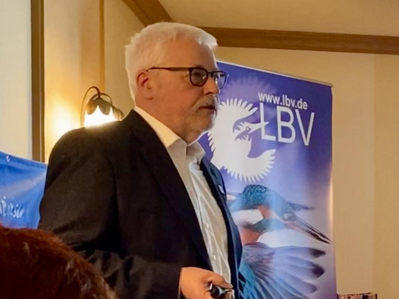 Klaus Sanzenbacher als Vorsitzender des LBV Kitzingen bestätigt!