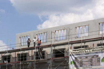 Baustelle für Geschosswohnungen